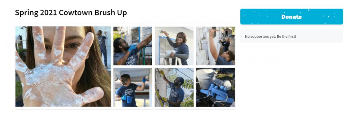 CTBU website fundraising - Trinity Habitat for Humanity